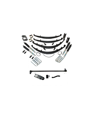 2 Inch Custom Spring System 73-87(91) K5, K10, K20, and Suburban with GM Dana 60 With Crossover Steering