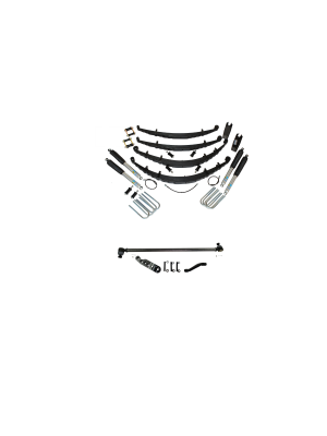 2 Inch Custom Spring System 69-72 Blazer, K10, k20, and Suburban With 8 Lug Axle With Crossover Steering