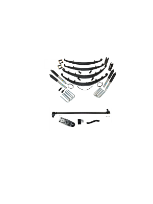 2 Inch Custom Spring System 69-72 Blazer, K10, k20, and Suburban With GMD60 Axle With Crossover Steering