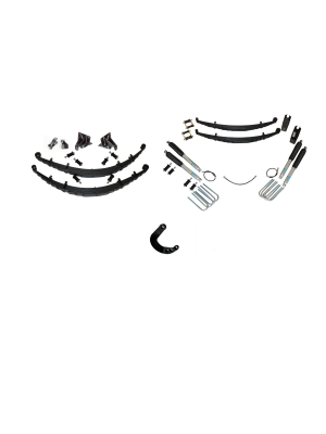 7 Inch Custom Spring System 73-87(91) K5, K10, K20, and Suburban with 8 lug axles With Push Pull Steering