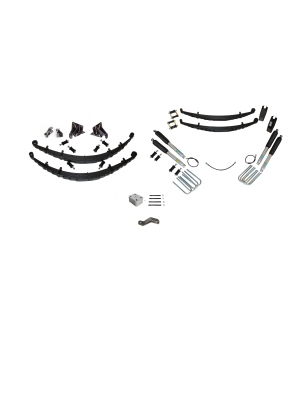 6 Inch Custom Spring System 73-87(91) K5, K10, K20, and Suburban with GM Dana 60 With Push Pull Steering