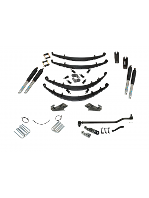 5 Inch Custom Spring System 73-87(91) K5, K10, K20, and Suburban with 6 lug axles With Crossover Steering