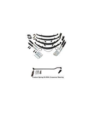 3 Inch Custom Spring System 73-87(91) K5, K10, K20, and Suburban with 6 lug axles With Crossover Steering