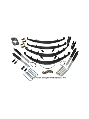 4 Inch Custom Spring System 73-87(91) K5, K10, K20, and Suburban with 8 lug axles With Push Pull Steering