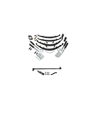 2 Inch Custom Spring System 73-87(91) K5, K10, K20, and Suburban with 6 lug axles With Crossover Steering