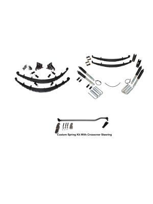 6 Inch Custom Spring System 73-87(91) K5, K10, K20, and Suburban with 8 lug axles With Crossover Steering