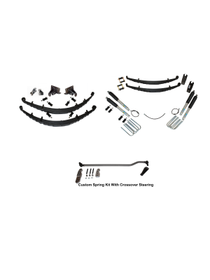 6 Inch Custom Spring System 73-87(91) K5, K10, K20, and Suburban with 6 lug axles With Crossover Steering