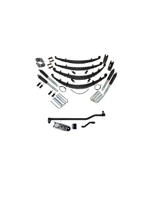4 Inch Custom Spring System 73-87(91) K5, K10, K20, and Suburban with GM Dana 60 With Crossover Steering