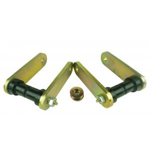 Kevlar Heavy Duty Front Shackle Kit for '67-87 ('91) GM Trucks with Aftermarket (Lift) Springs and FUSH Kit, Greasable